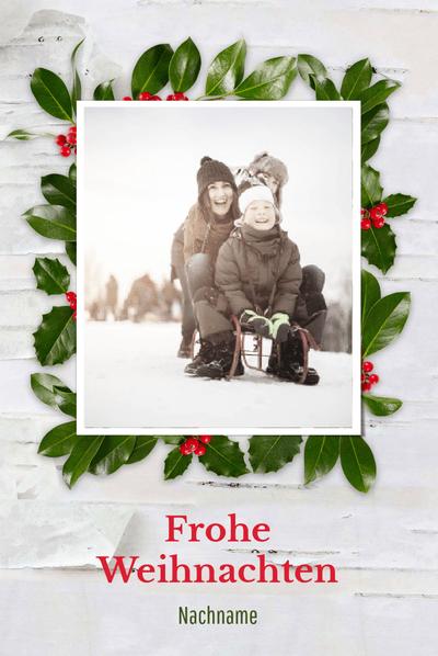 Schräge Weihnachtsgrüße.Fotokarten