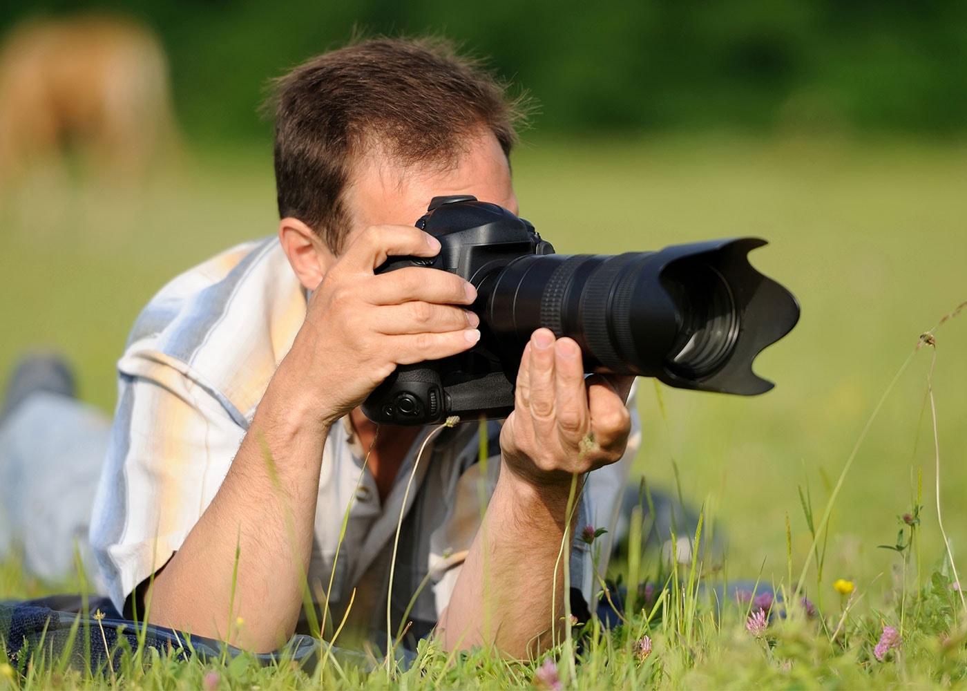 Arme beim Fotografieren aufstützen