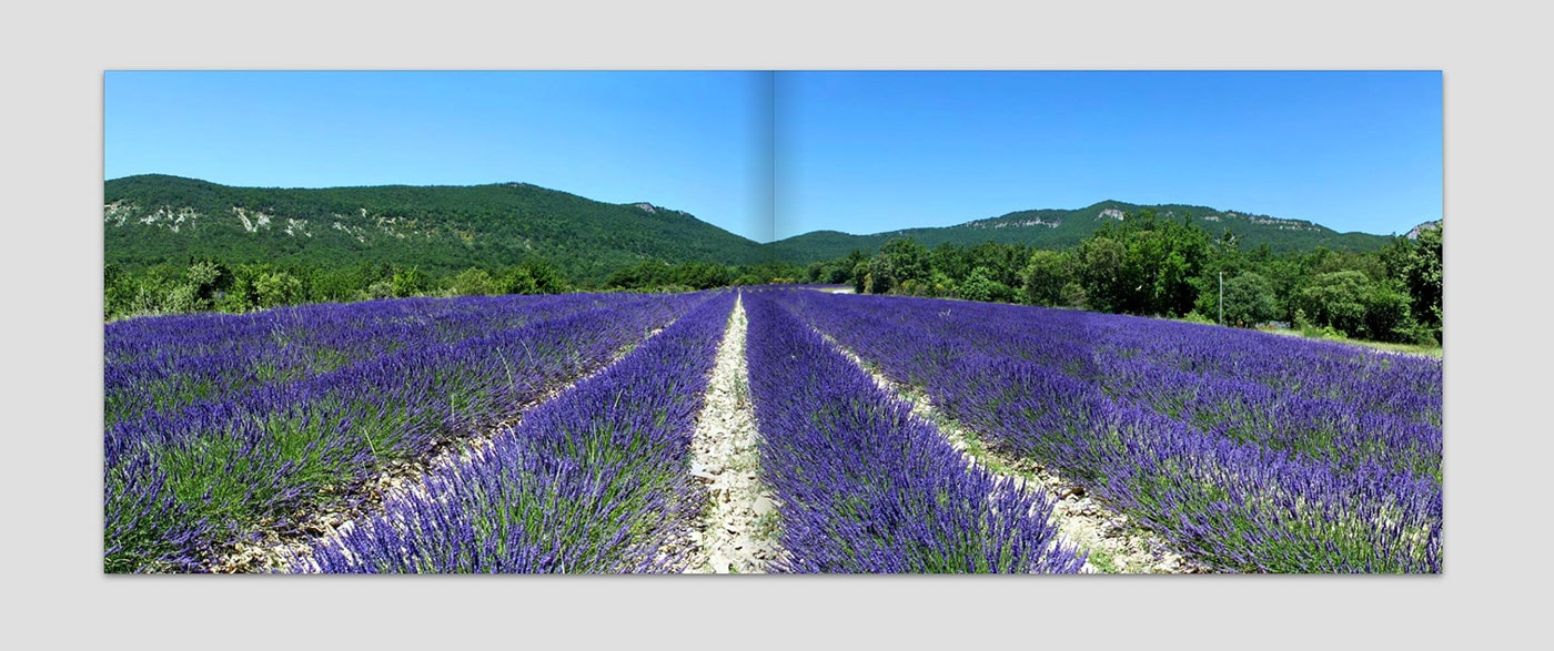 Panoramen im Fotobuch als seitenfüllendes Element