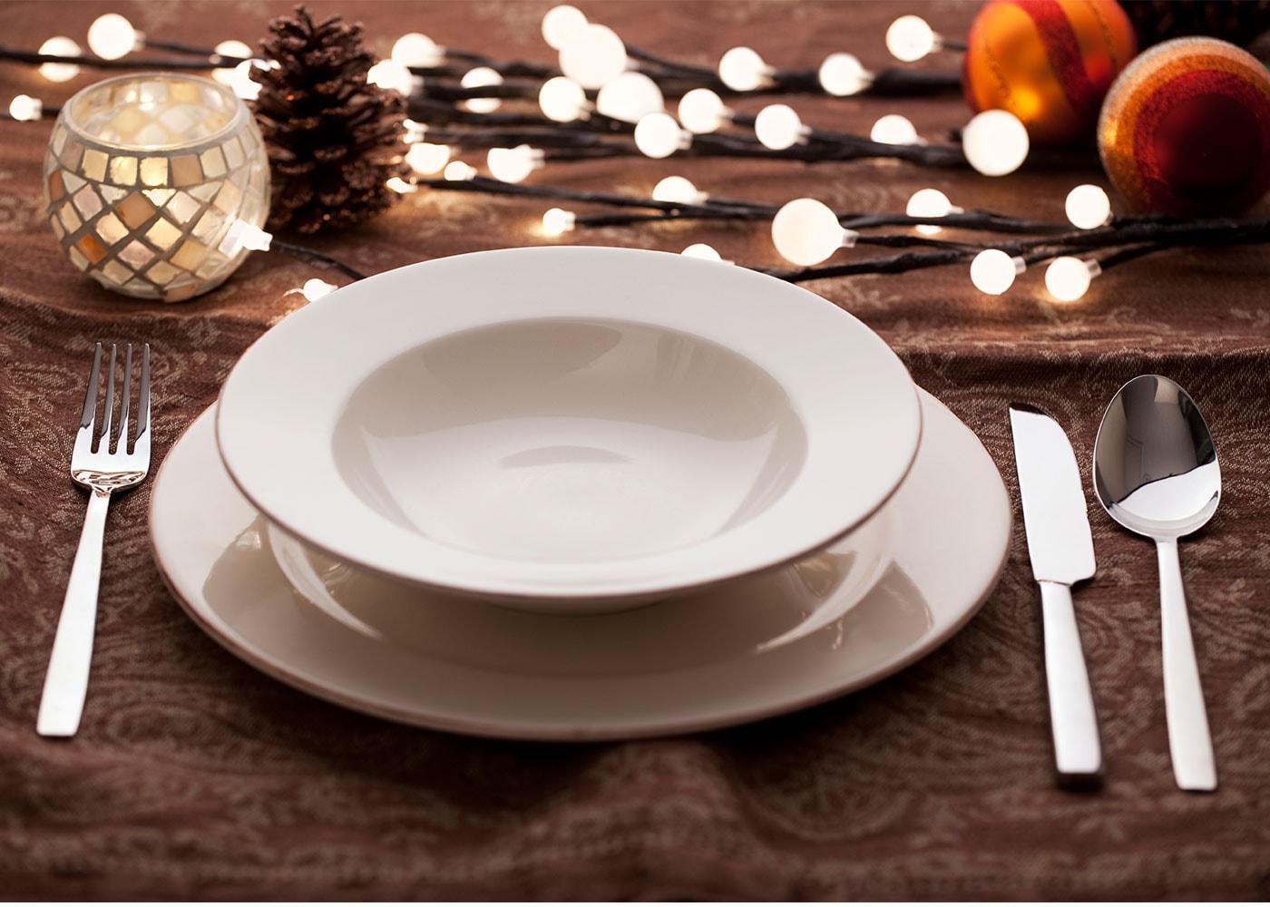 Weihnachtliches Motiv nicht mittig platzieren
