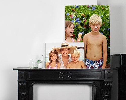 Familienfotos auf Leinen