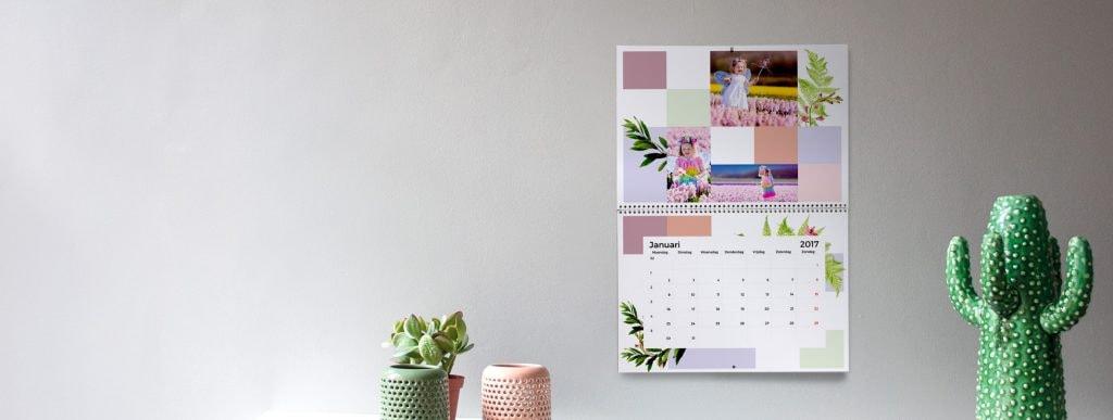 Kalendergestaltung mit Familienfotos