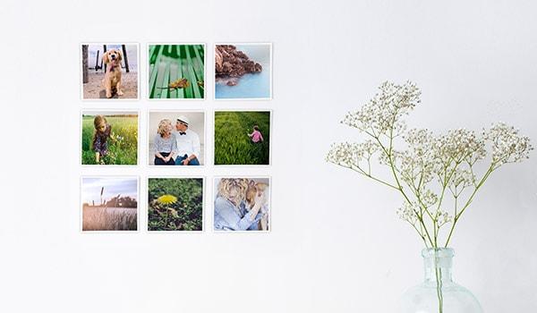 Quadratische Fotoabzüge