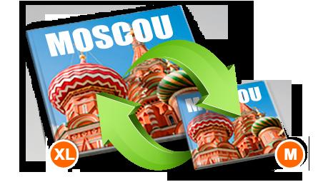 Modèles de livres photo xl et m avec la photo de la Basilique de Moscou
