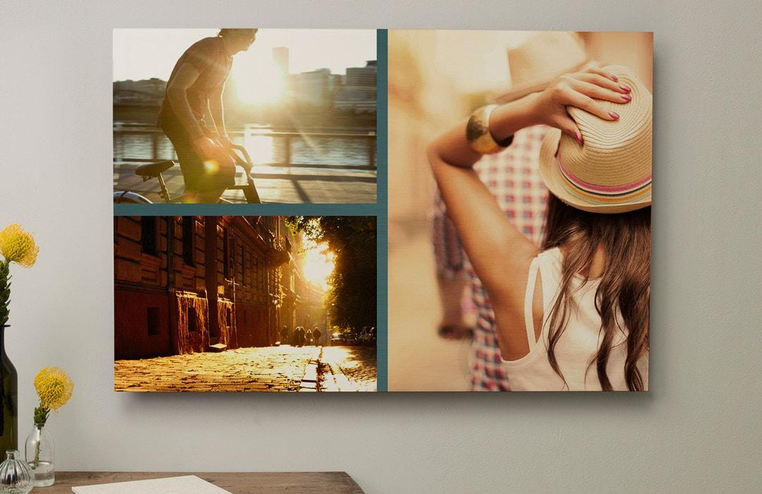 Créez un pêle-mêle sur votre tableau photo alu