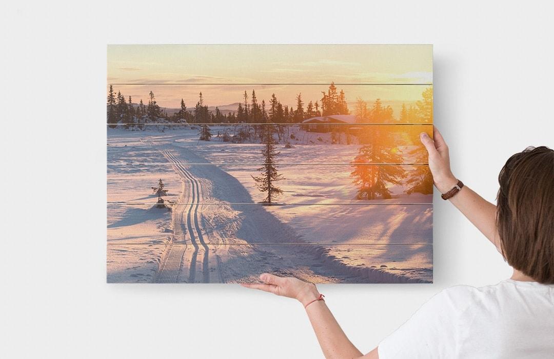 Photo sur bois