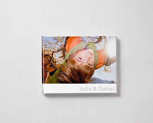 Fotobok liggande M pojke vinter