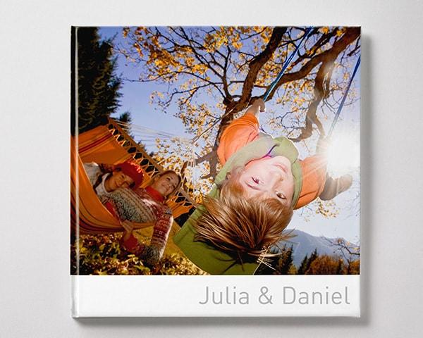 fotobok kvadratisk XL vinter pojke familj