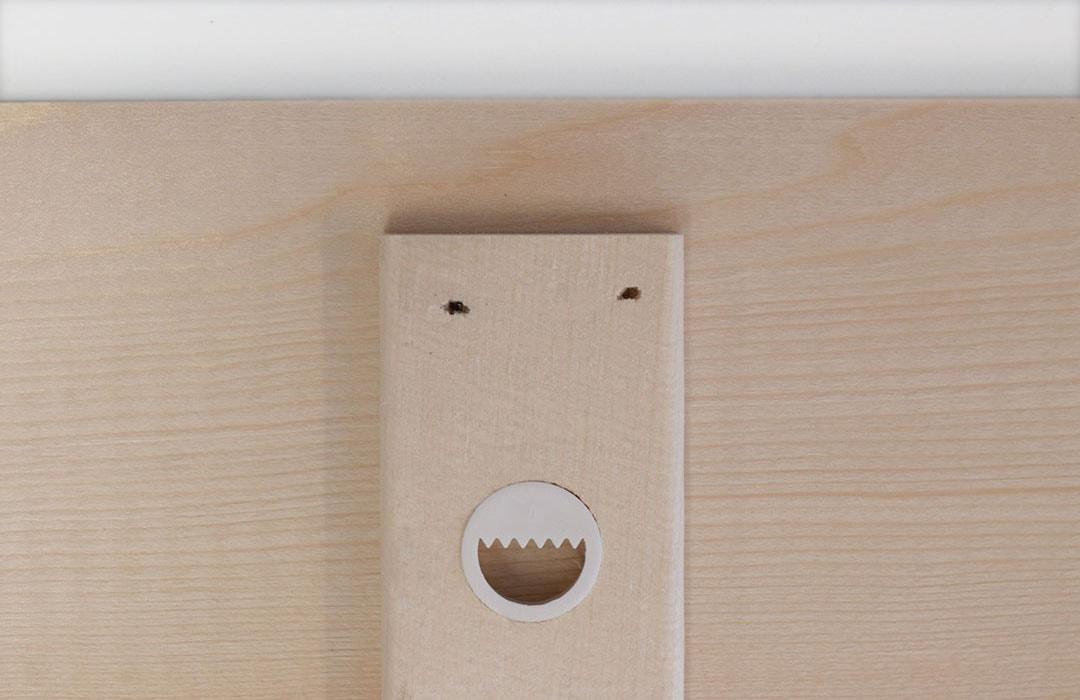 Bild på trä upphängningssystem