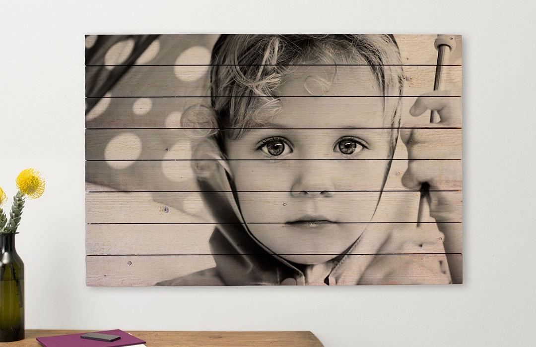 Bild på trä fotoeffekter