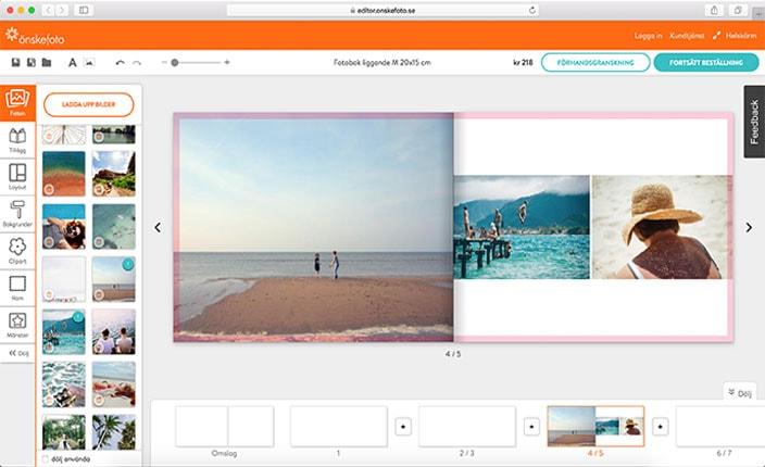 Online-verktyg för att skapa fotobok