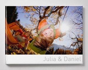 Fotoboek Voorbeeld Liggend - Kind in schommel XL