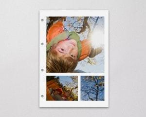 Fotoboek Voorbeeld Losse fotobladen - Boom en Kind in schommel