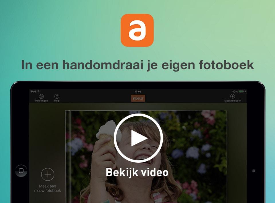albelli iPad app