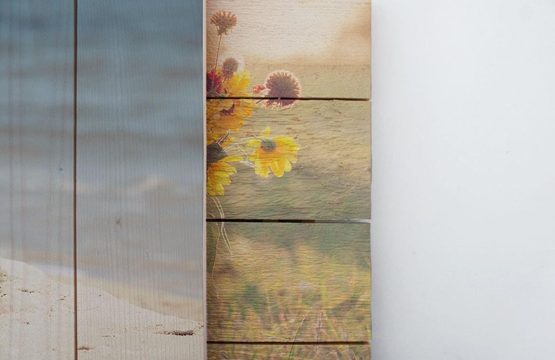 Foto op hout plankrichting