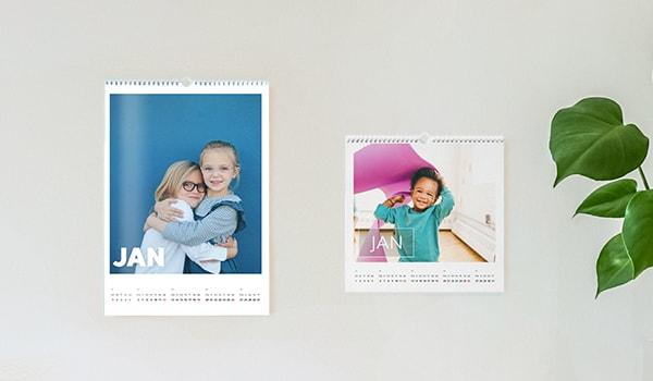 Matte en glanzende fotokalenders