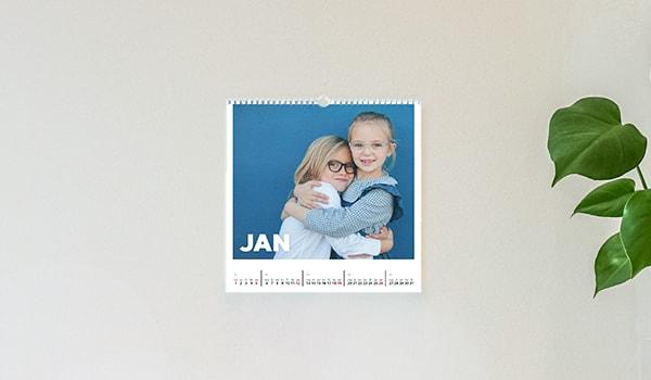 Vierkante fotokalender