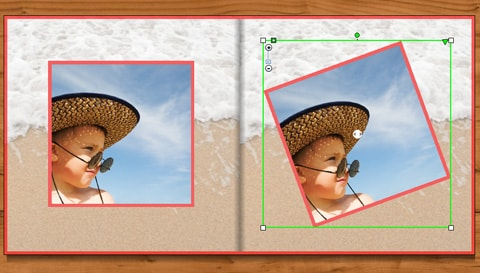 product detail shot-rotate photo & retain size-photo book creator