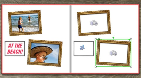 product detail shot-save the layout without design elements-photo book creator