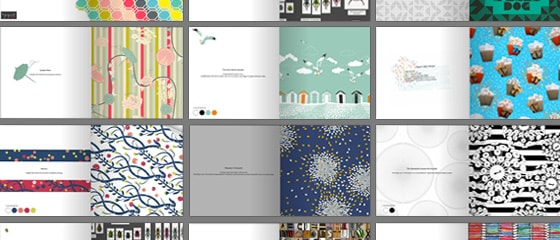 A collection of surface designs by Candy Joyce