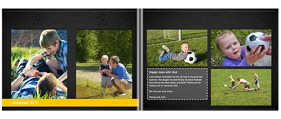 Father's Day gift ideas - pre-designed photo book