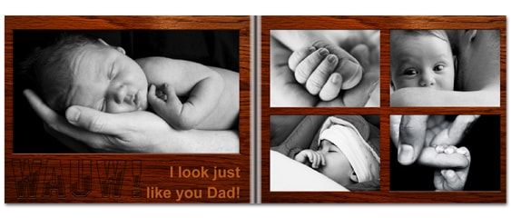 Father's Day gift idea - pre-designed photo book sample