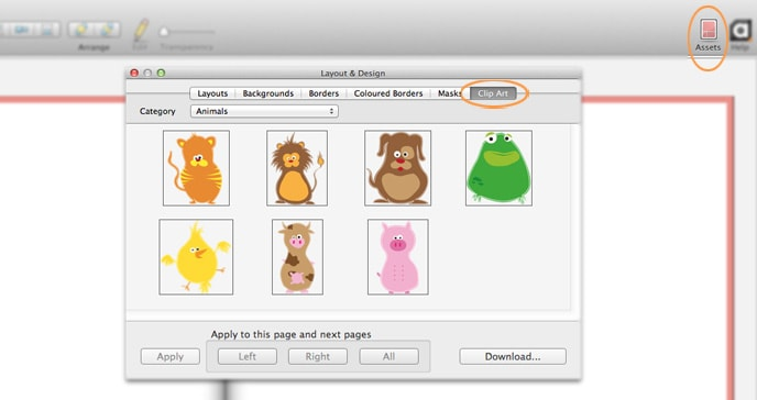 Photo book creator tool update for Mac - clip art is now available!