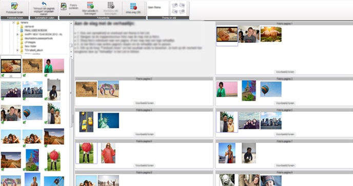 Photo book creator tool for Windows - Autofill option has a storyboard