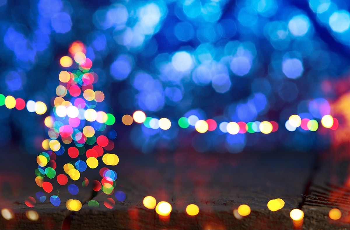 Bokeh photography christmas