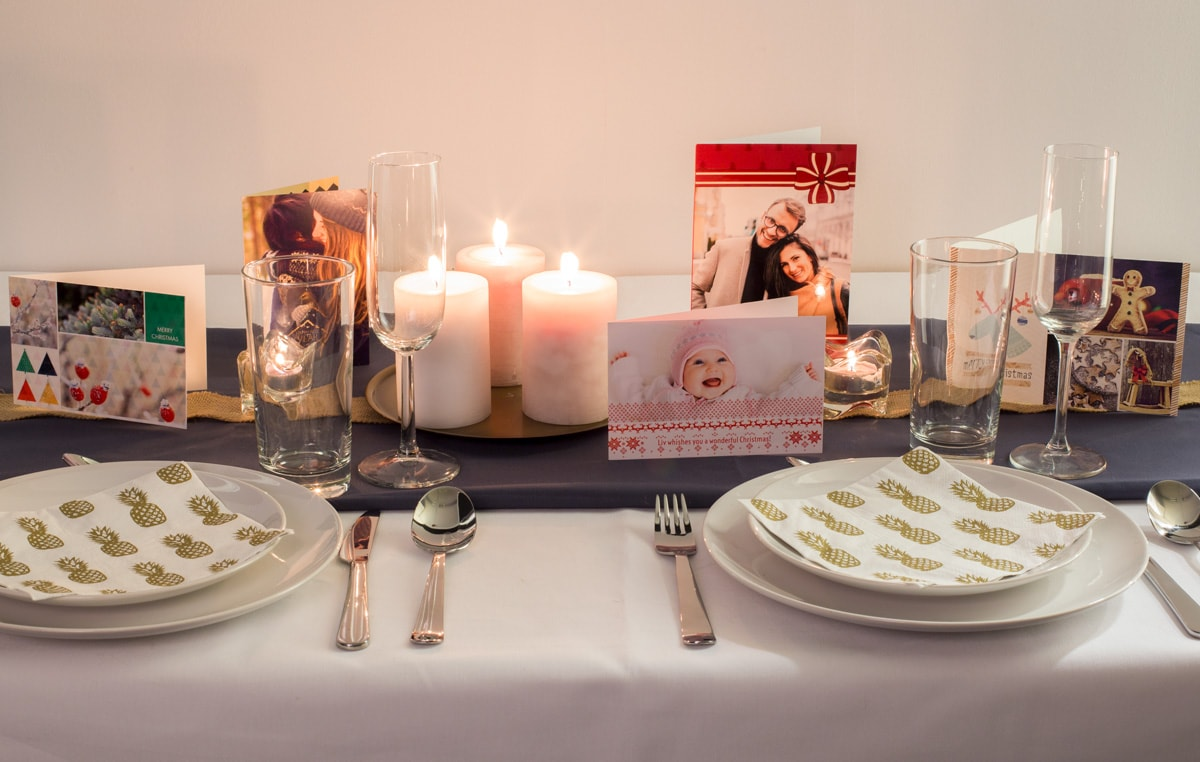 7 creative ways to display your christmas cards for Creative ways to make a table