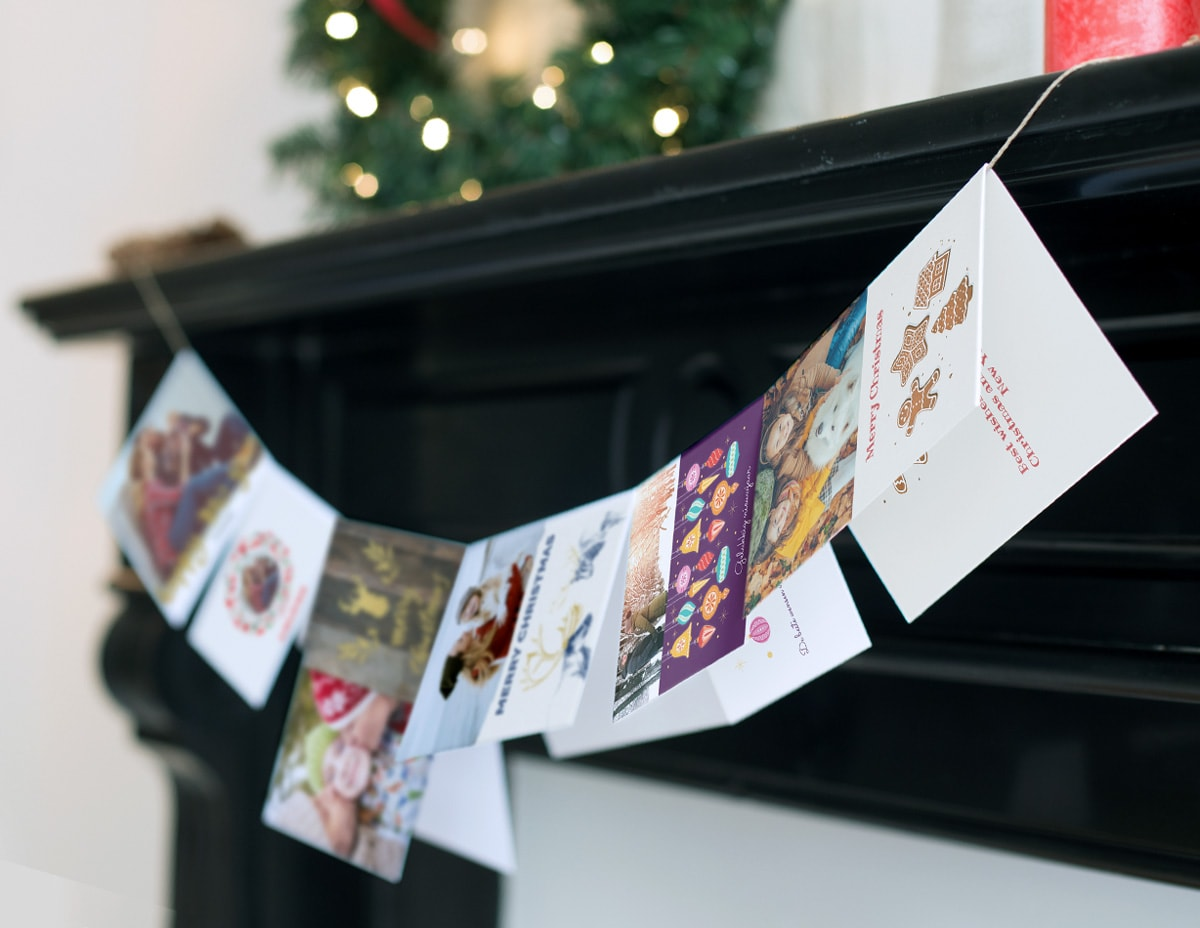 christmas card display ideas hanging mobile