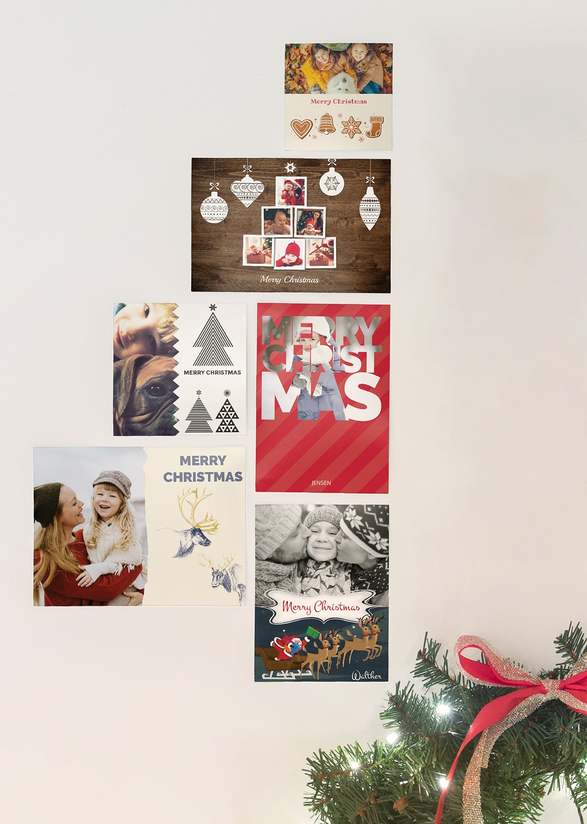 7 creative ways to display your Christmas cards