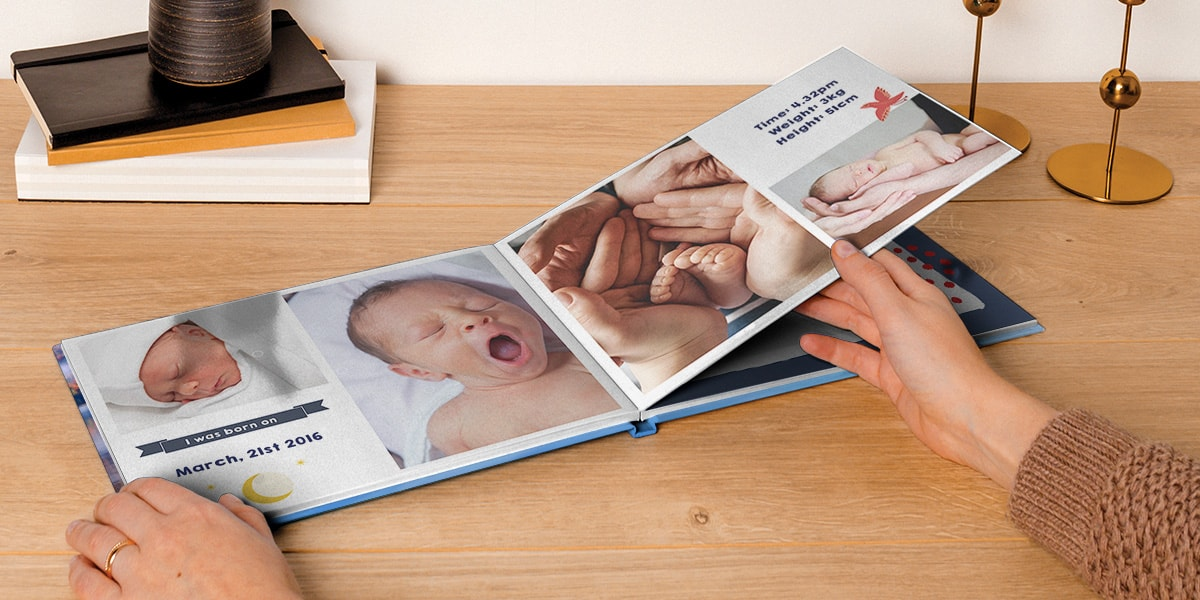 how to create baby s first photo album bonusprint blog