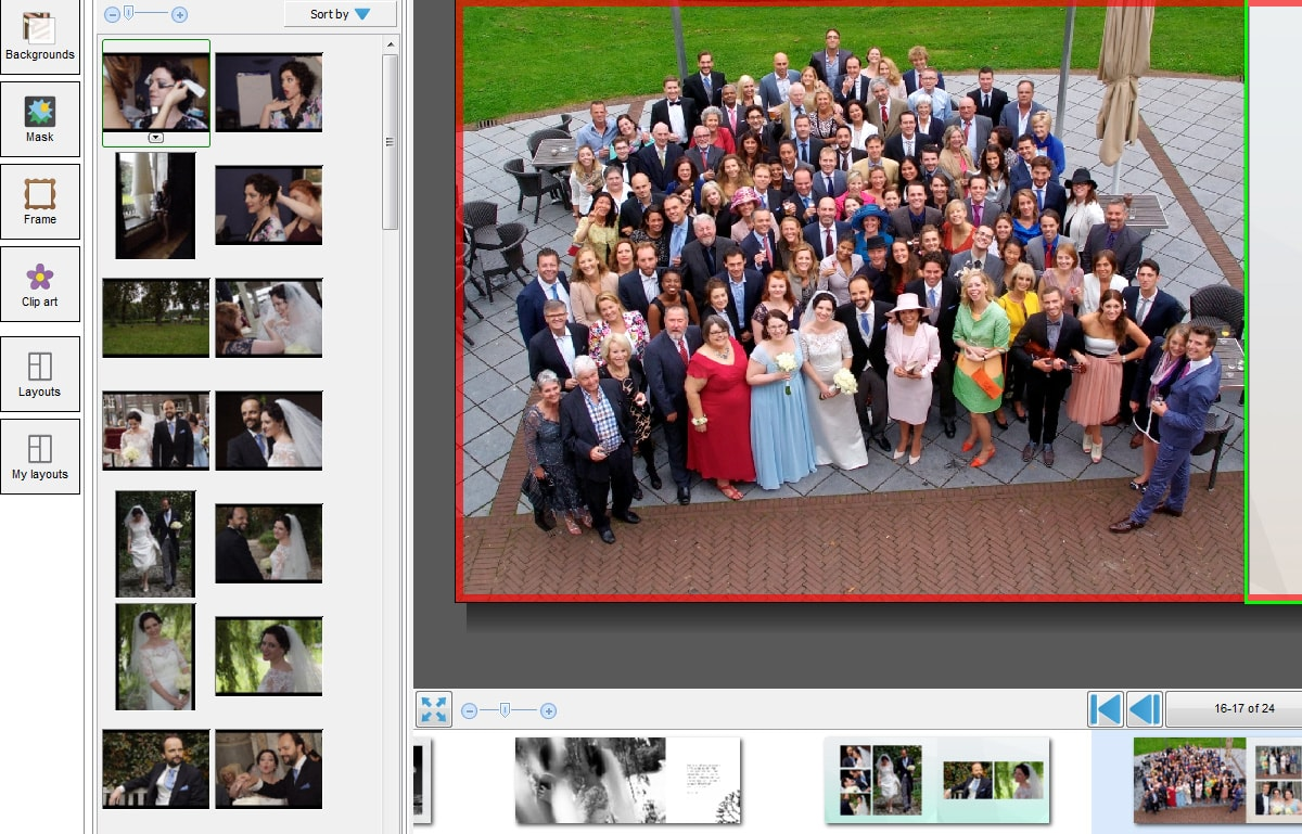 Wedding album ideas group photo