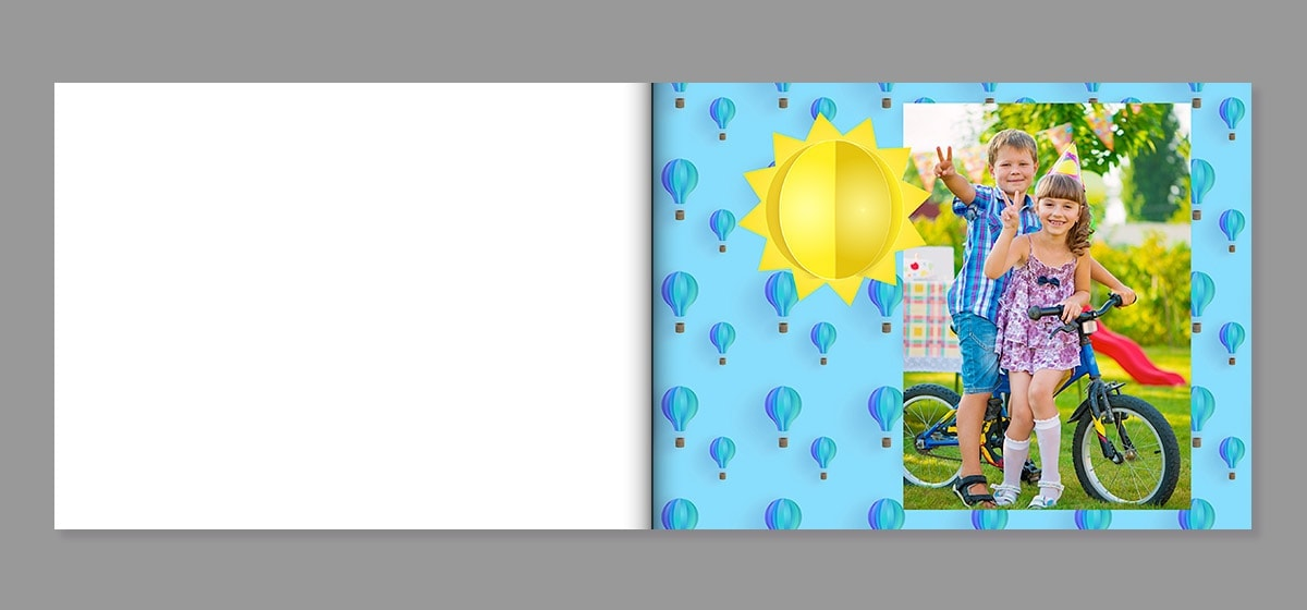 birthday photo book background idea