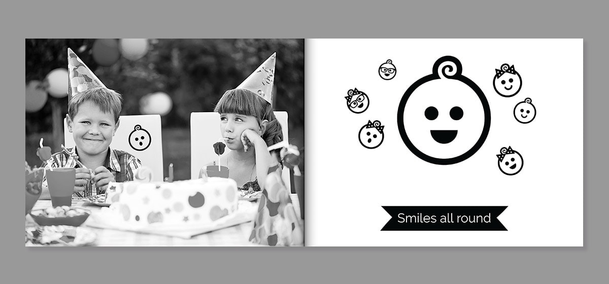 birthday photo book clip art ideas