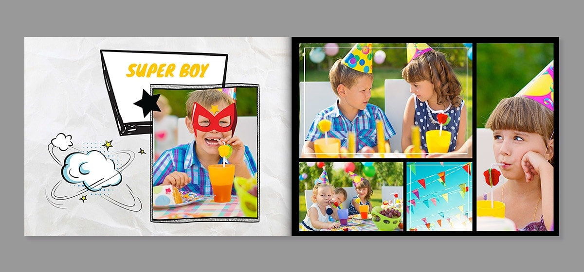birthday photo book creative ideas