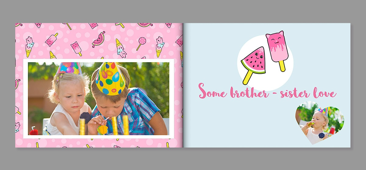 birthday photo book fun day out theme