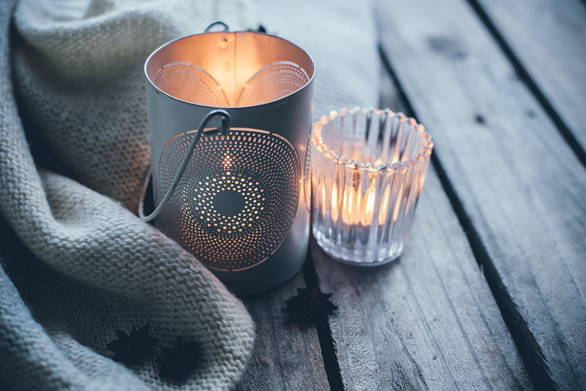 hygge interiors tips candles