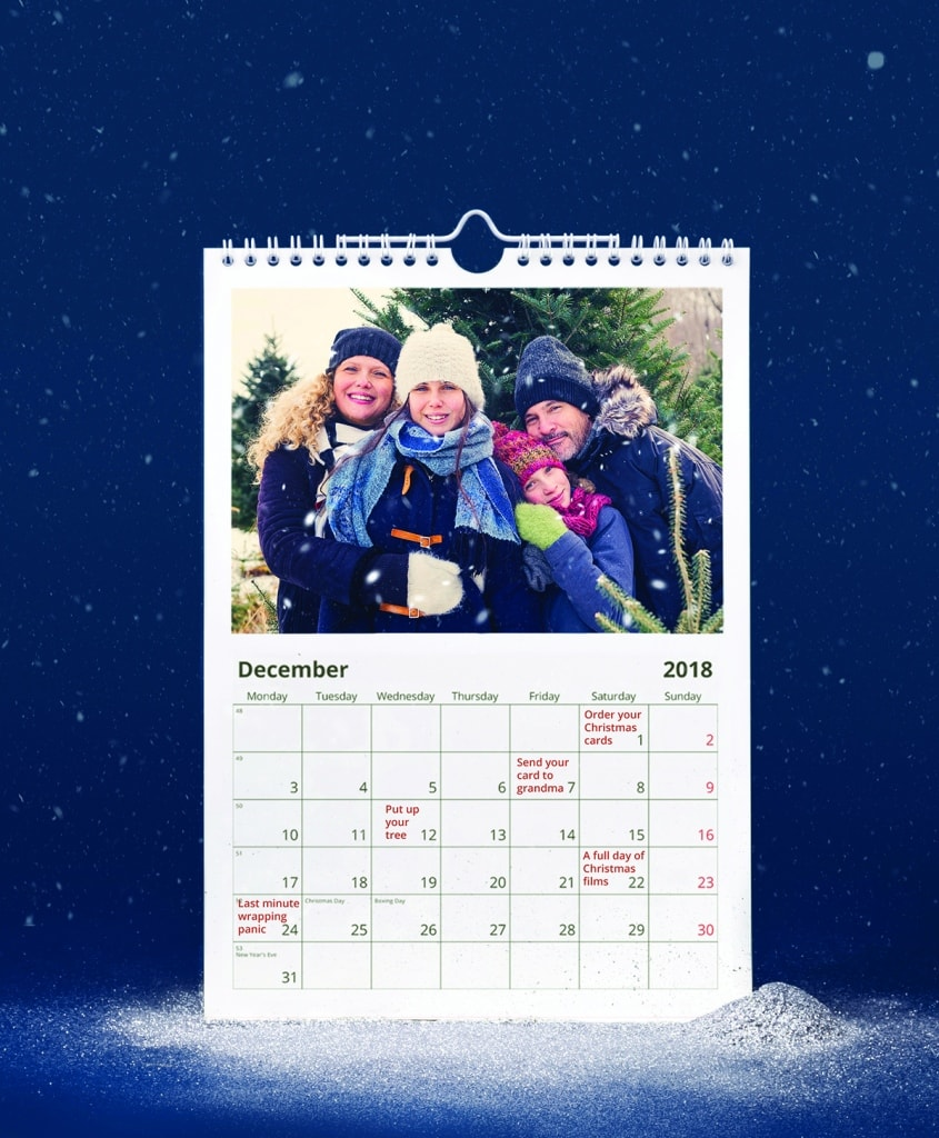 winter photo product calendar