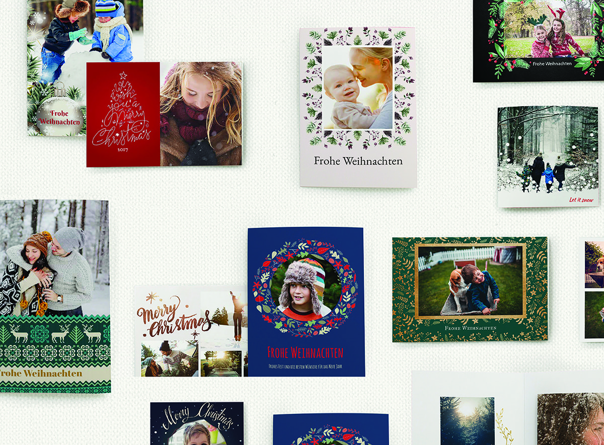 winter photo product cards
