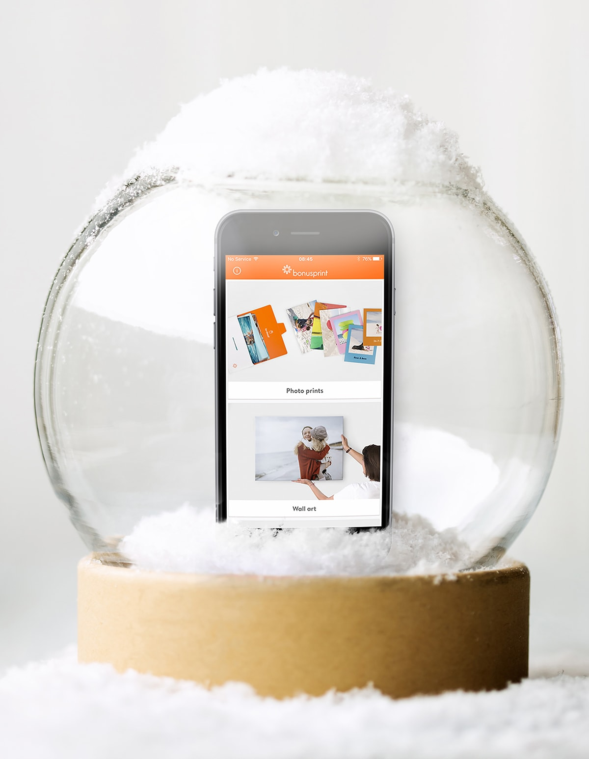 winter photo product smartphone app