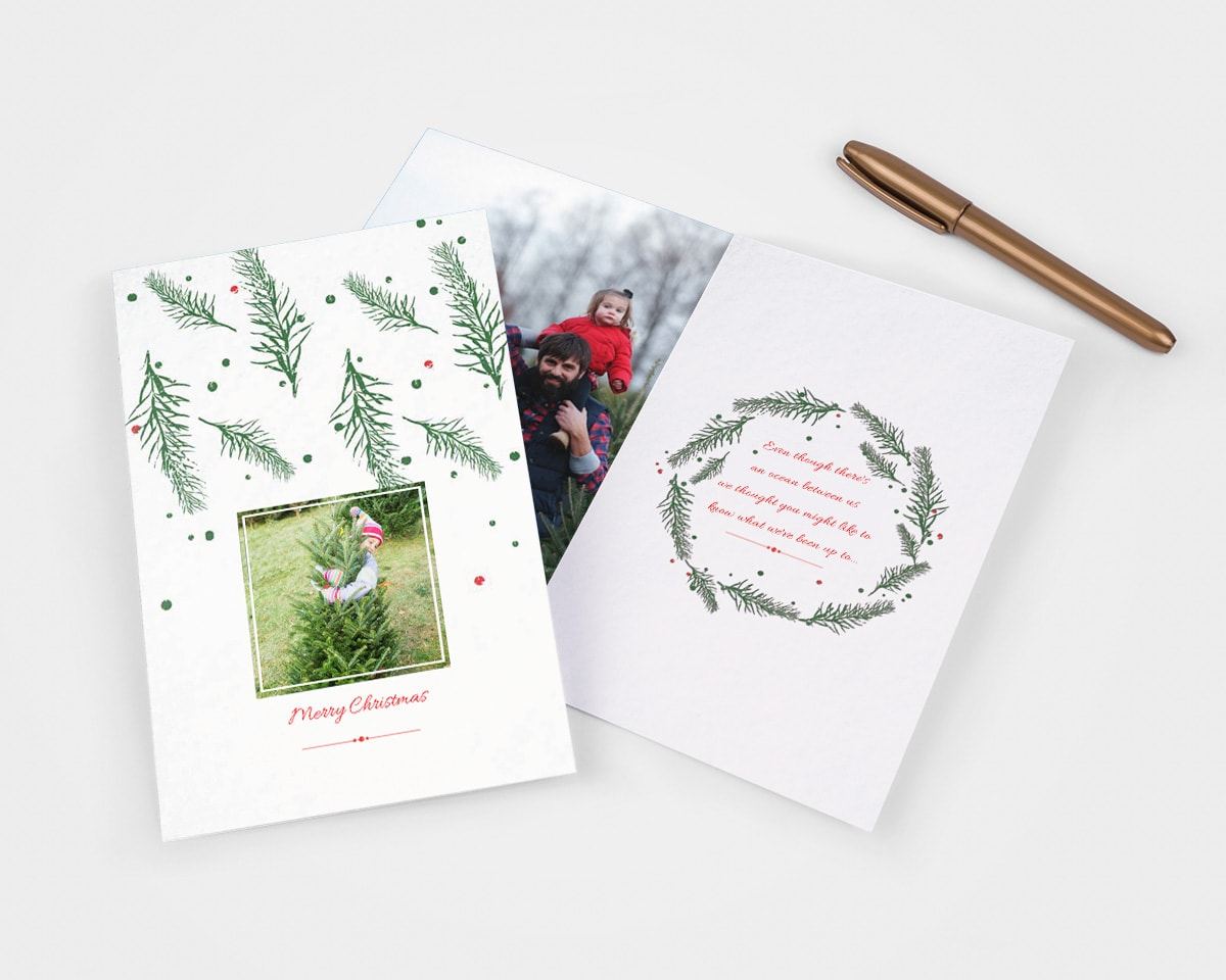 write in christmas card ideas family