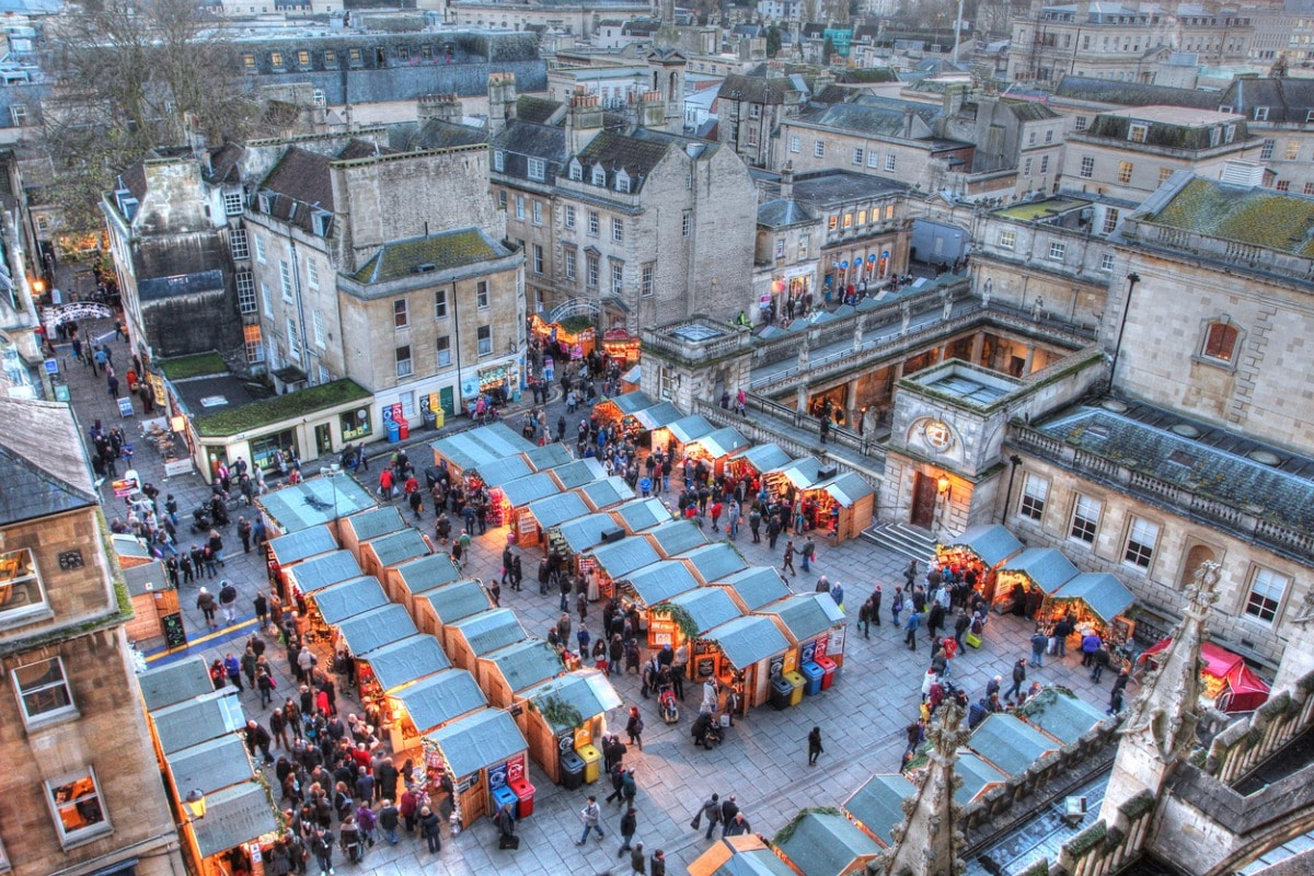 European christmas market bath