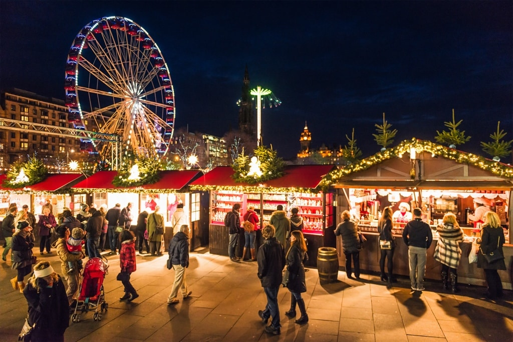 European christmas market edinburgh
