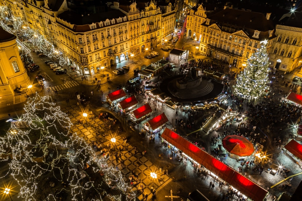 European christmas market prague