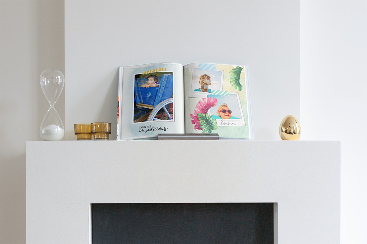 creative-ways-display-photo-books-fireplace