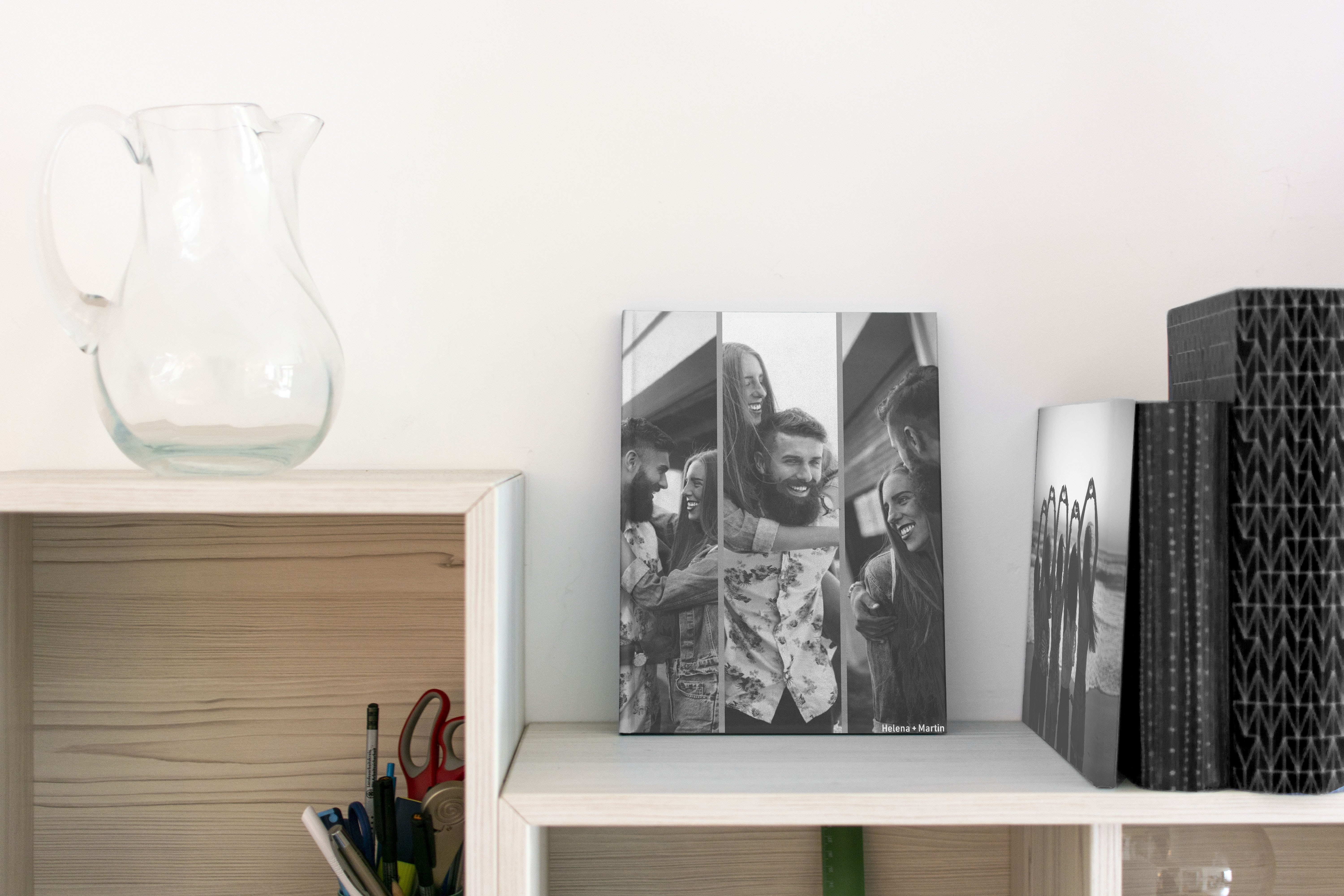 creative-ways-display-photo-books-monochrome