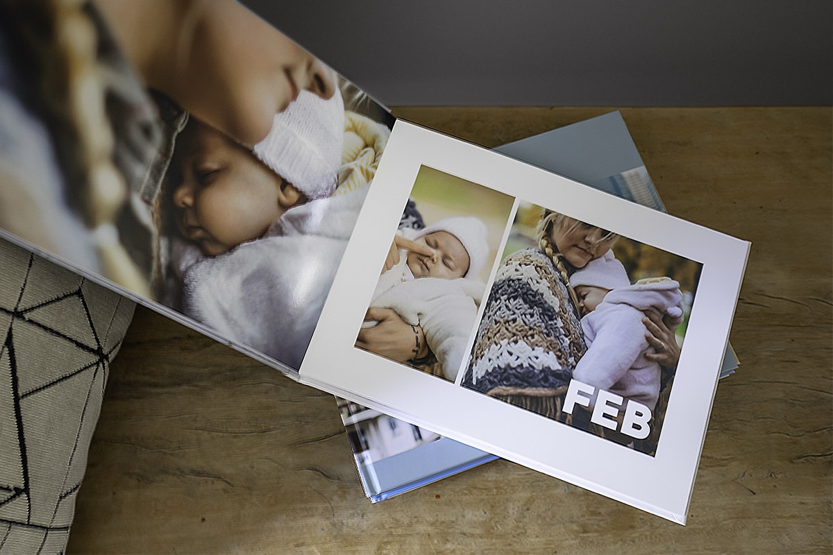 Customised photo book with baby photos