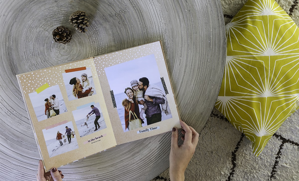 Personalised annual photo book with family photos